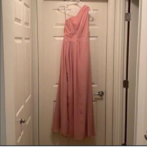 F18055 - blush. David's bridal dress